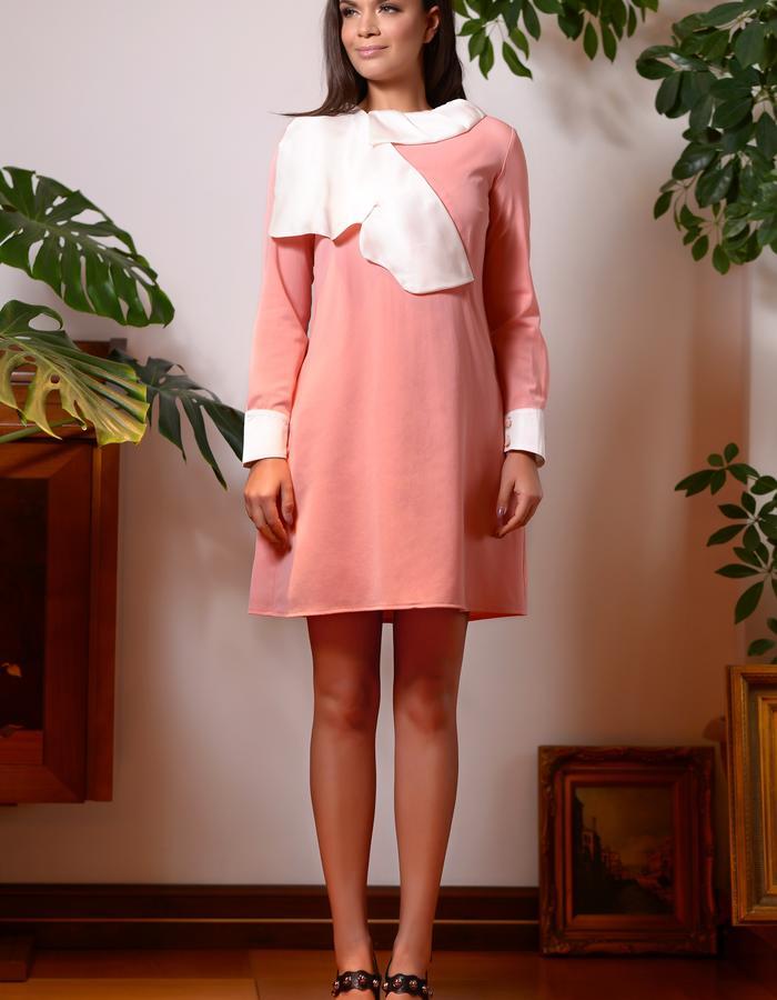 Butterfly Dress (Wool Mini Dress with SIlk Butterfly)