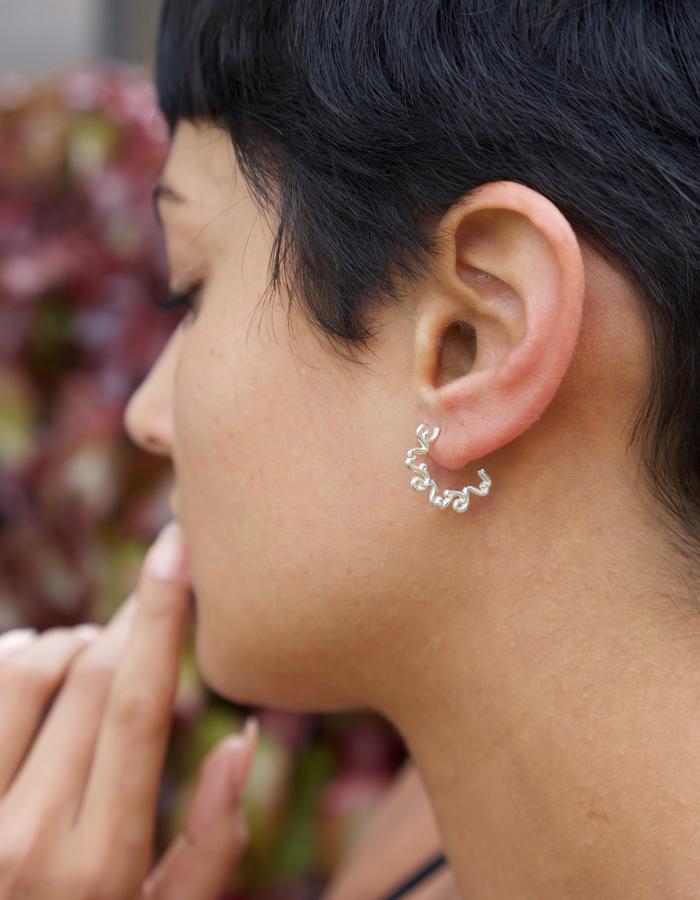 'Me' Mantra Hoop Earring