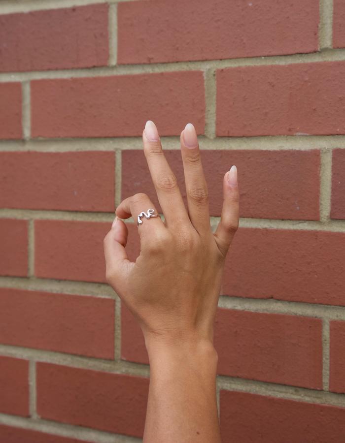 Statement 'Me' Ring