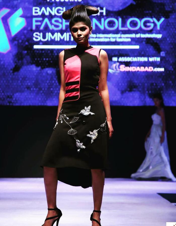 LED embedded Dress with hand embroidery