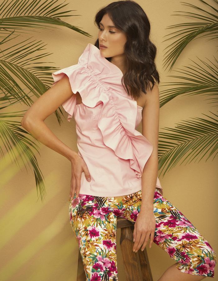 Lizzy Cotton Top & Capri Pensamientos Pants