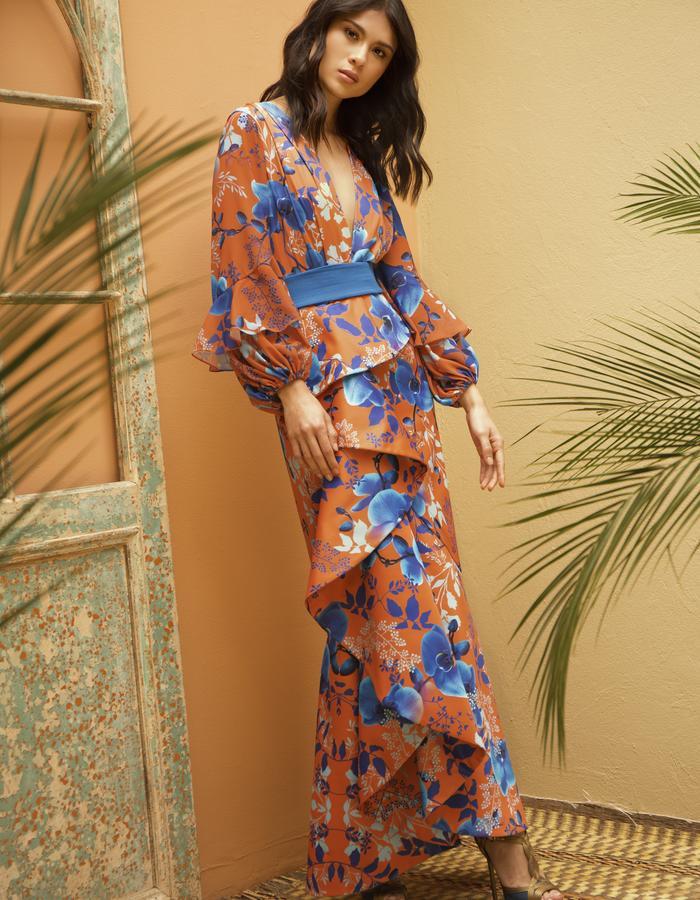 Blue Orchids Gala Dress