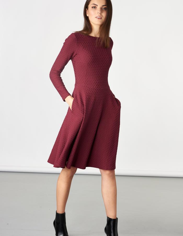 LAUREN Burgundy Dress