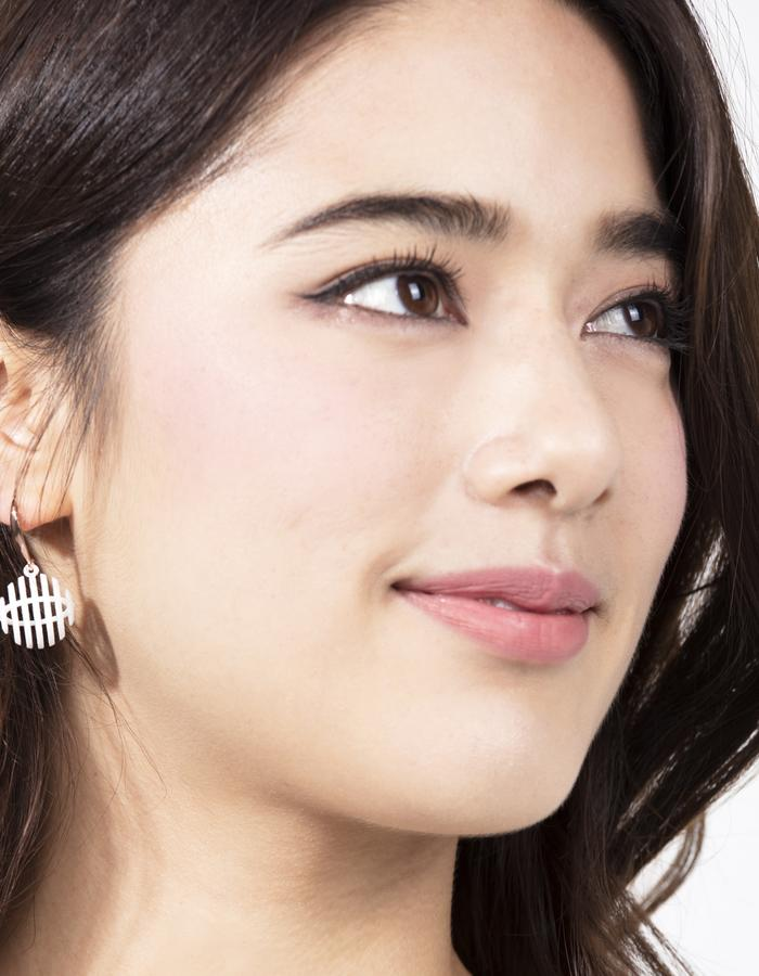 Op Sphere Earrings(White)