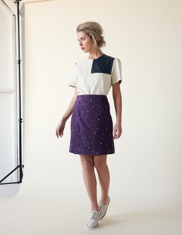 Manley /// Parker Leather Tee & Parker Studded Skirt