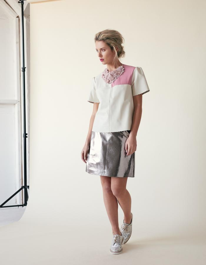 Manley /// Parker Leather Tee & Parker Mid Skirt