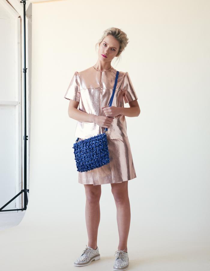 Manley /// Parker Leather Tee, Parker Mid Skirt & Parker Bag