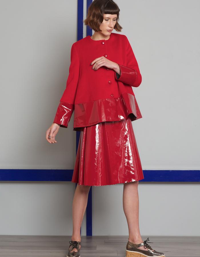 Manley AW16 /// Harper Skirt & Harper Patent Coat