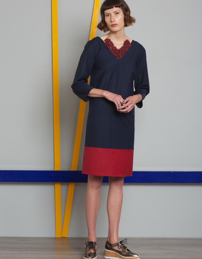 Manley AW16 /// Paige Dress & Maisey Bag