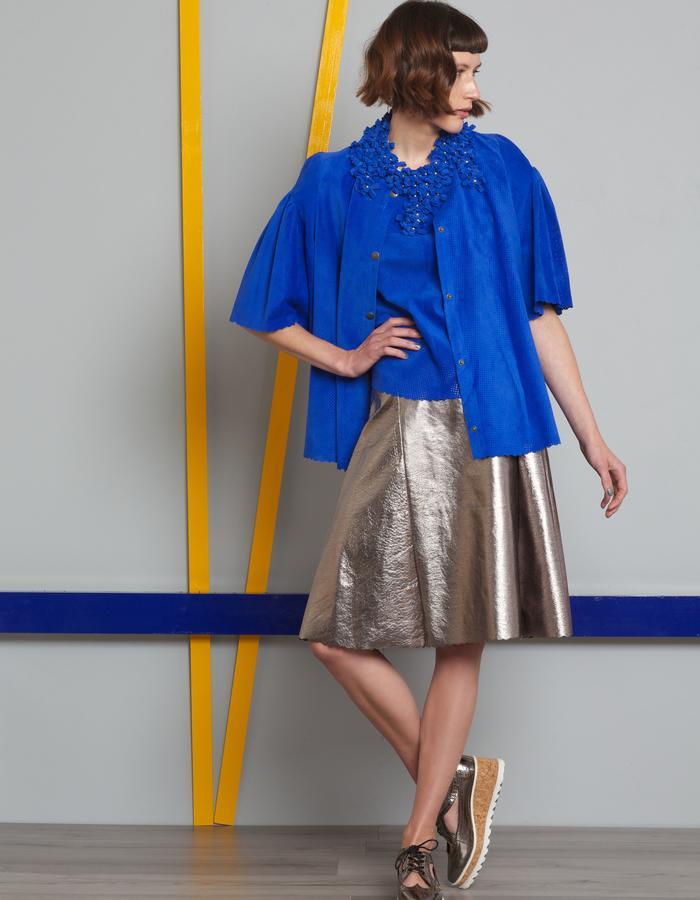 Manley AW16 /// Theo Tee, Harper Metallic Skirt & Theo Coat
