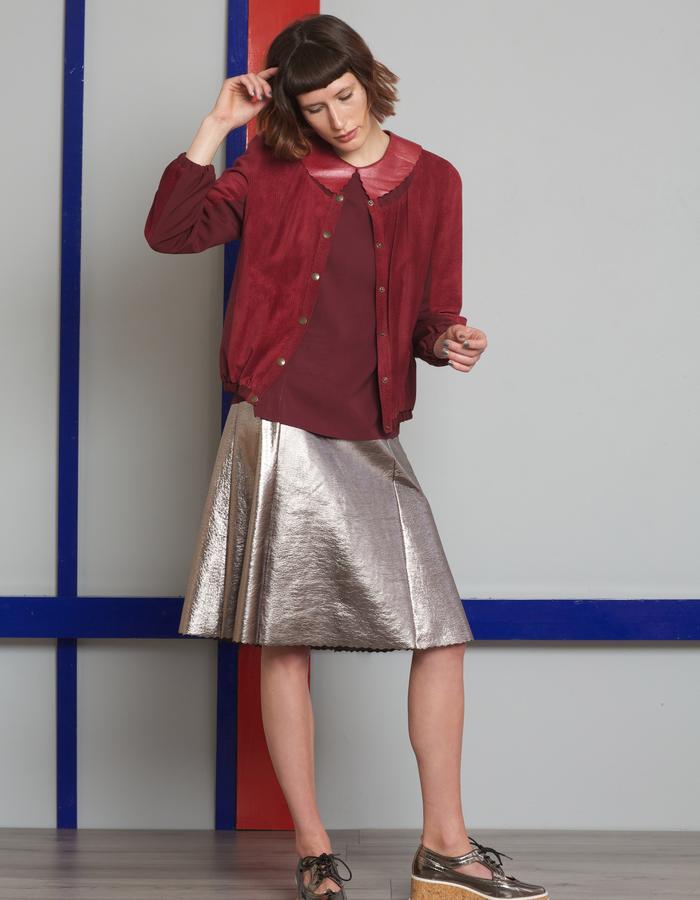 Manley AW16 /// Theo Top, Harper Metallic Skirt & Harper Bomber