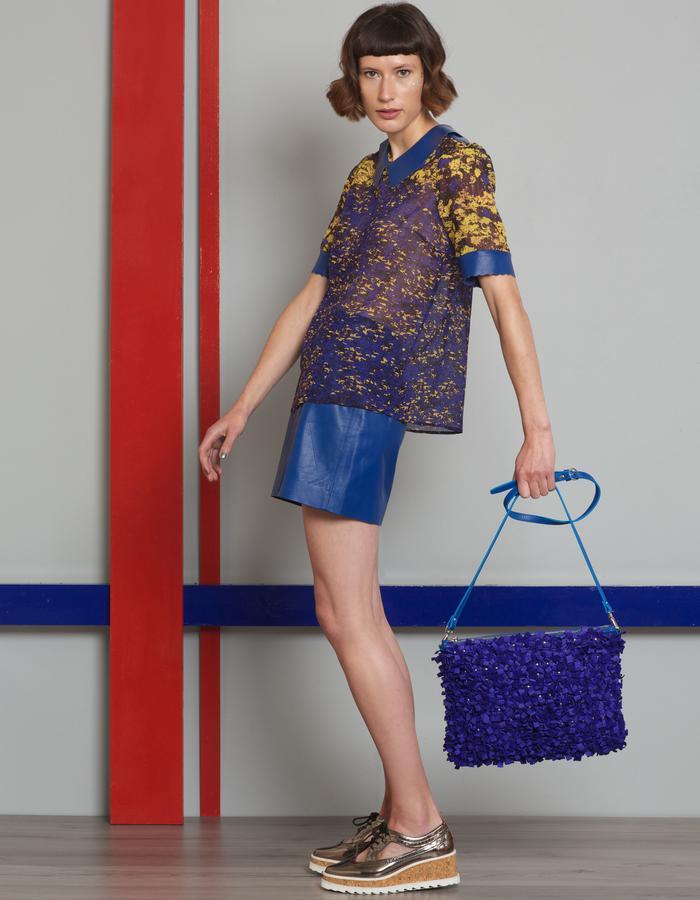 Manley AW16 /// Theo Top, Skyler Mini Skirt & Paige Bag