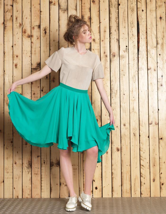 Manley SS16 /// Cara Leather Tee & Cara Skirt