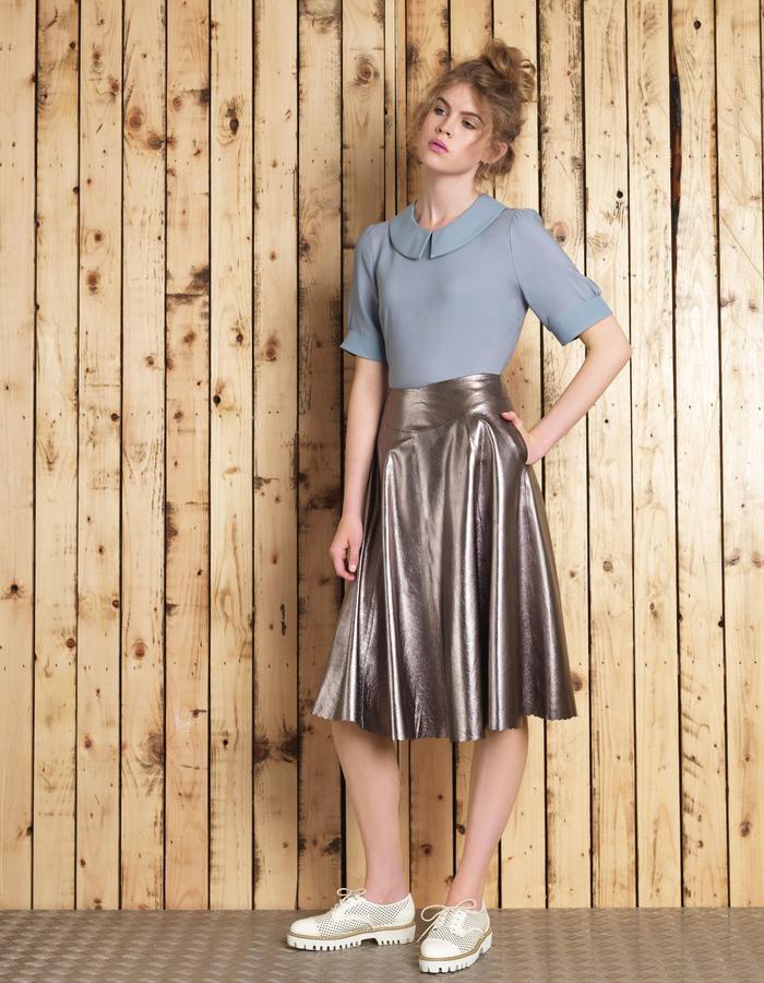 Manley SS16 /// Cori Tee & Sue Leather Skirt