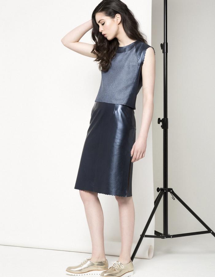 Manley AW15 /// Carly Crop & Maya Metallic Skirt