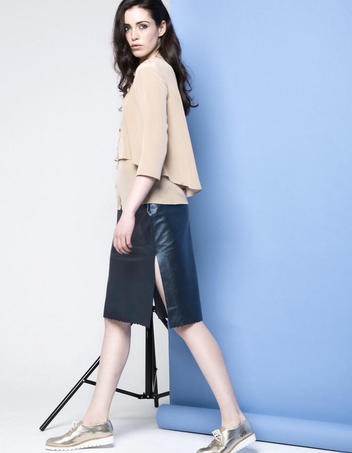 Manley AW15 /// Carly Shirt & Maya Metallic Skirt