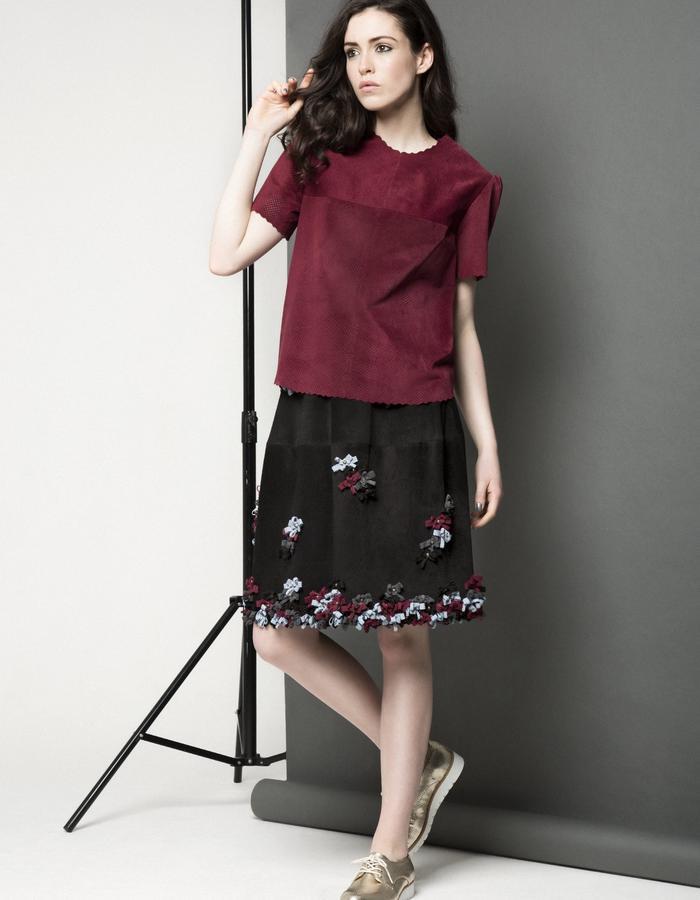 Manley AW15 ///  Maya Leather Tee & Lexi Bow Skirt