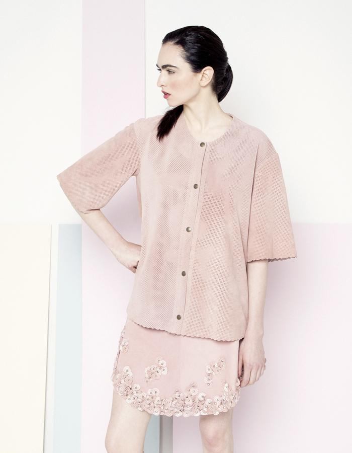 Manley SS15 /// Sian Coat & Mila Petal Skirt