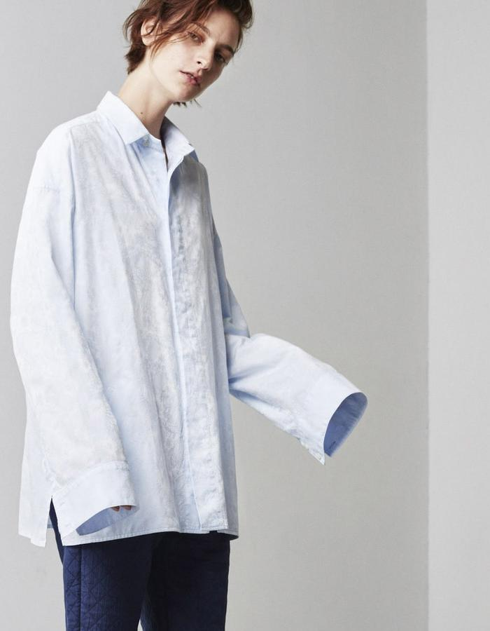 2WN SPRING SUMMER 2018 JACQUARD OVERSIZE SHIRT GENTLEWOMAN MADE IN USA (#2WN #2WNWEAR #2WNSTYLE)
