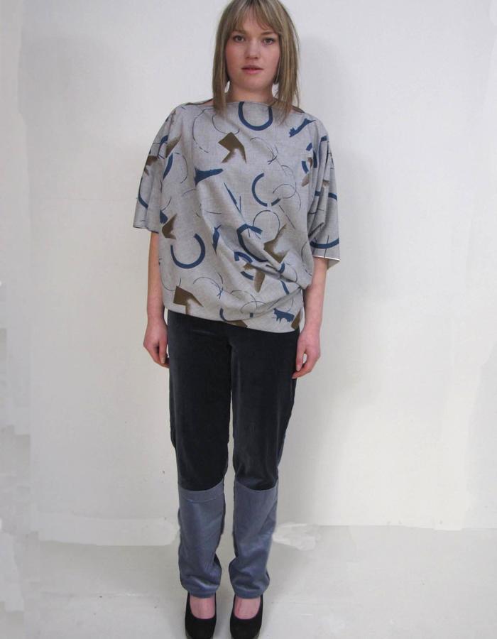 Zero waste Goddess tunic, velvet off-cut pant