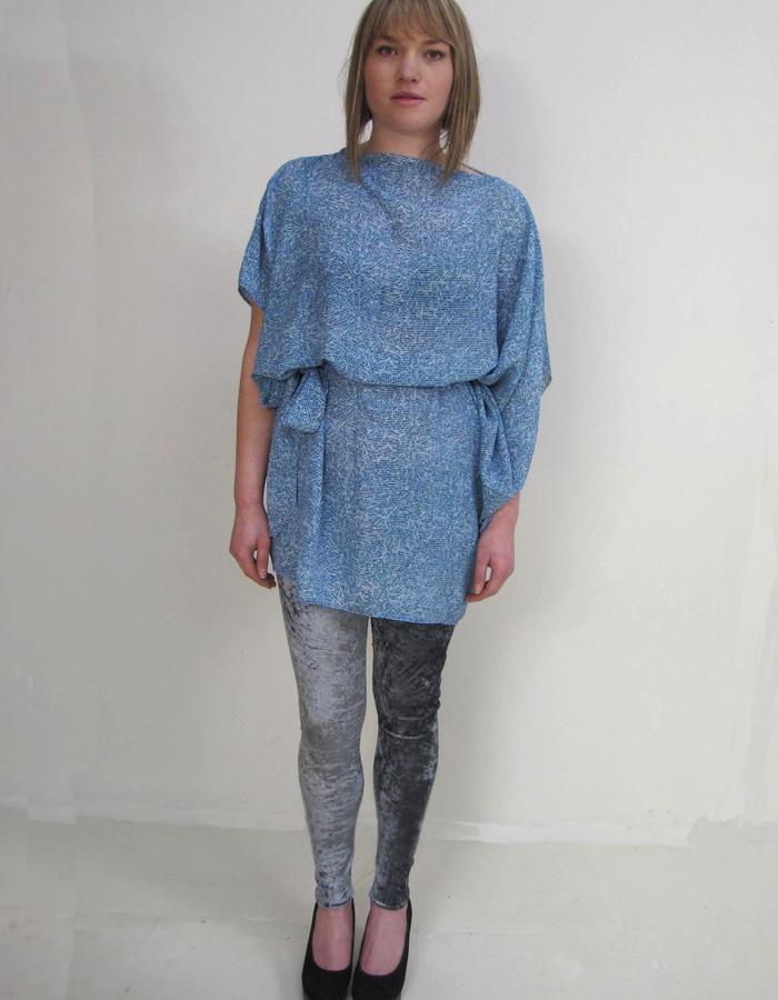 zerowaste goddess tunic, velvet off-cut legging