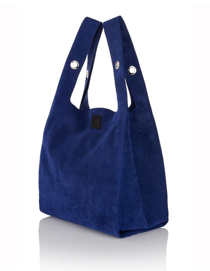 cobalt Suede carrier bag handbag