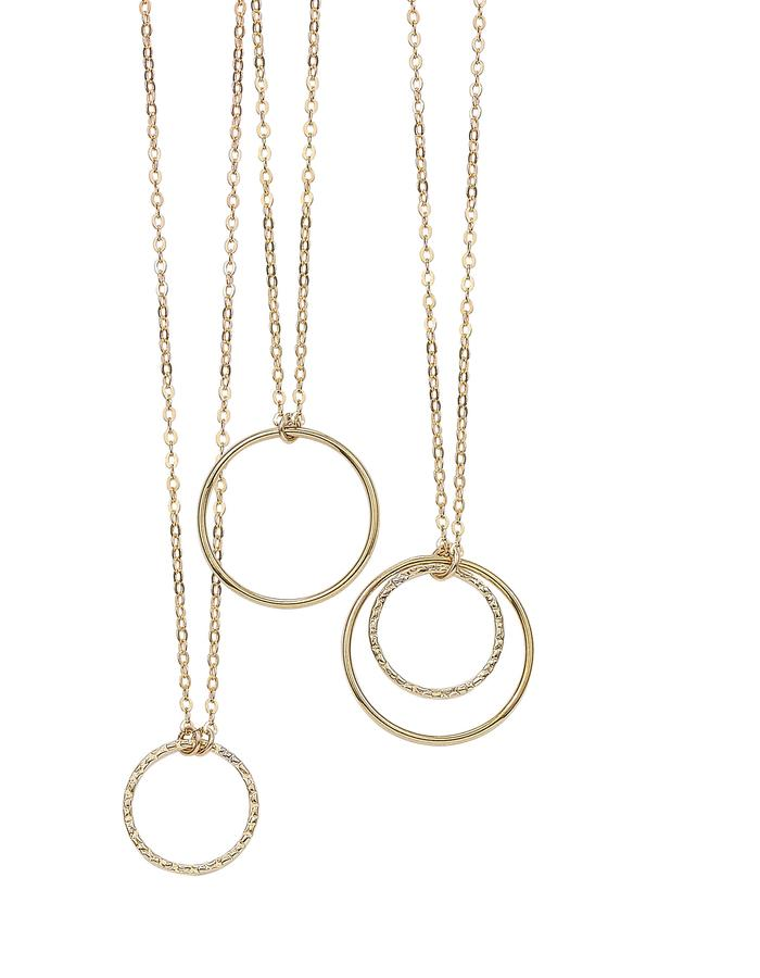 CIRCLE OF LIFE, gold filled necklaces