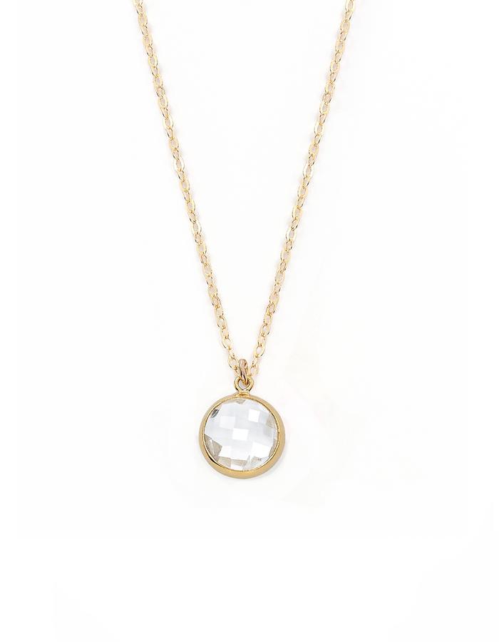QUARZ, gold filled necklace with quarz