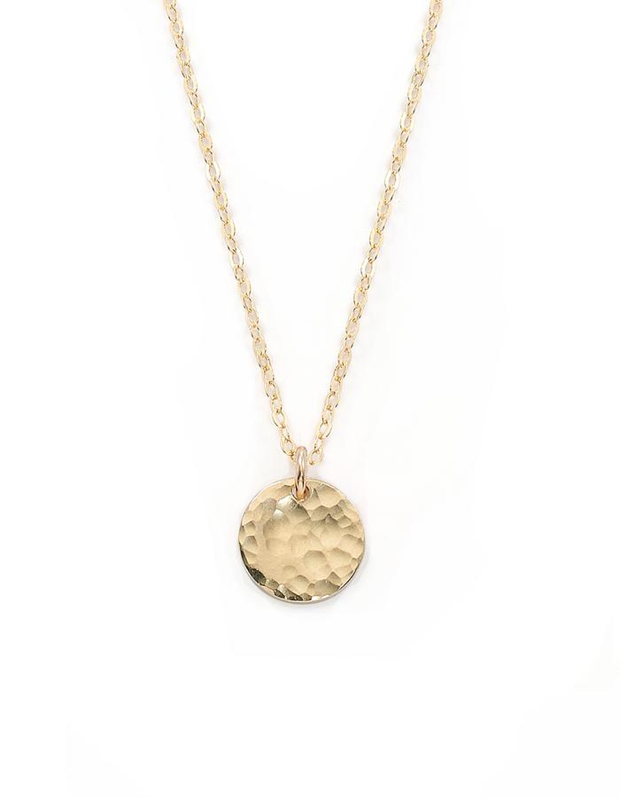 SIMPLE CIRCLE, gold filled necklace with coin