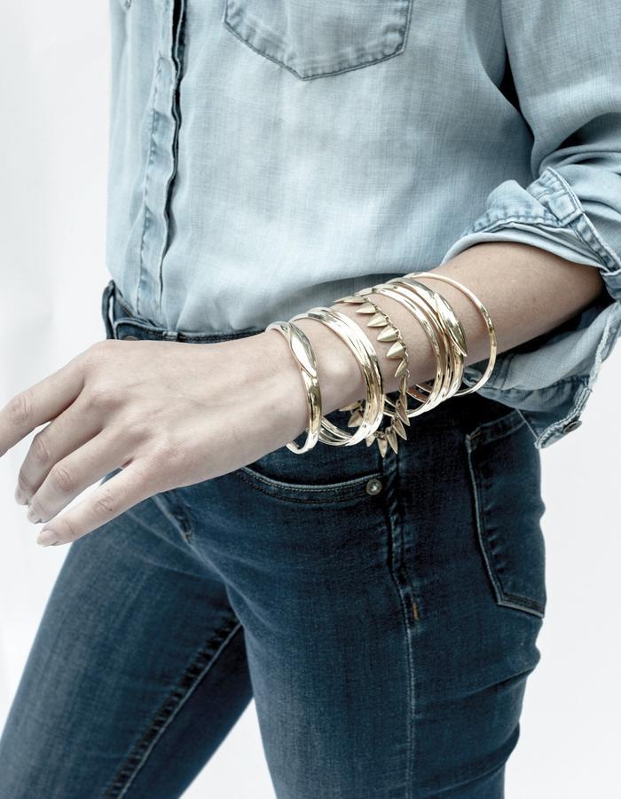 Grain Link Bracelet in Gold
