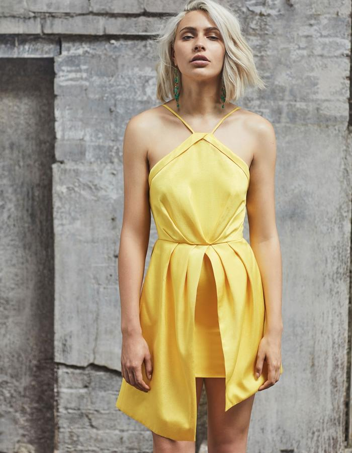 Emma Wallace SS18 Abby Dress Yellow