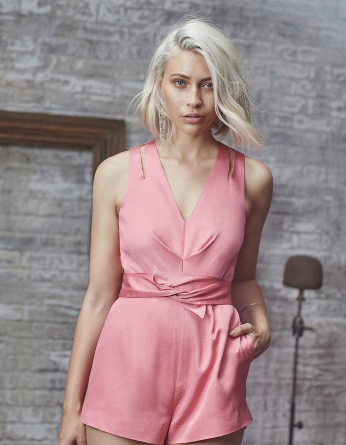 Emma Wallace SS18 Jasmine Romper Pink