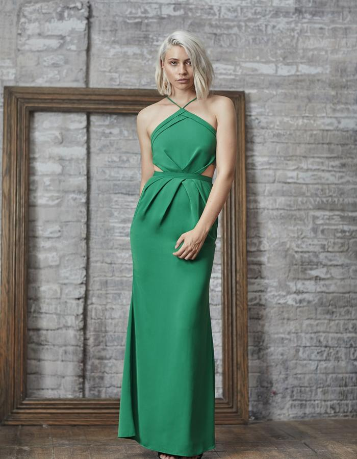 Emma Wallace SS18 Pia Gown Green
