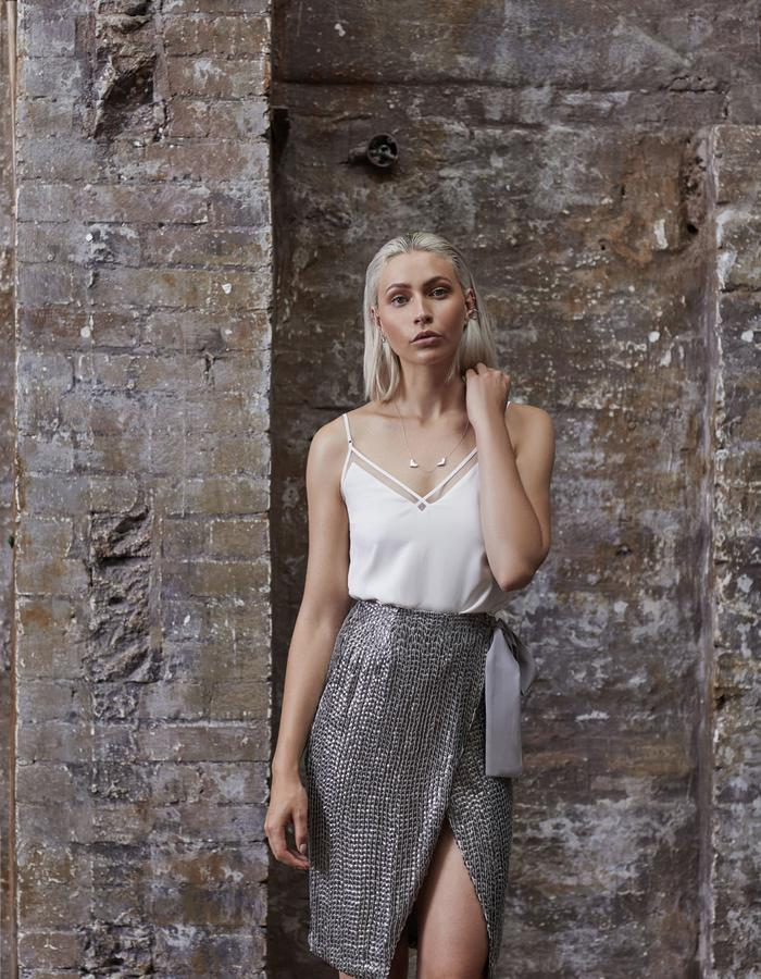 Emma Wallace SS18 Freya top and Luna skirt