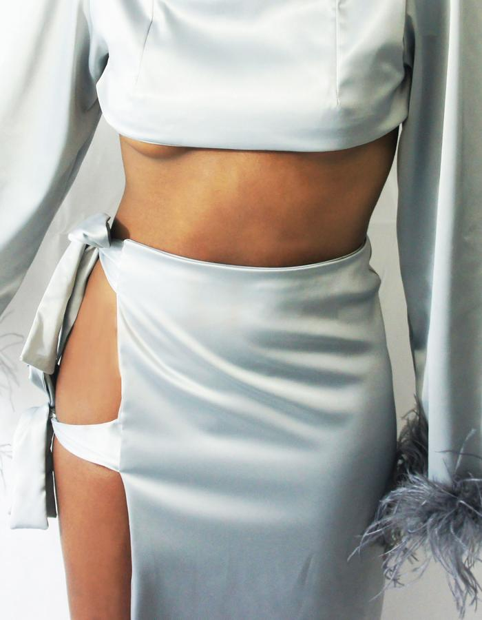 BOW SKIRT | OSTRICH FEATHER CROP