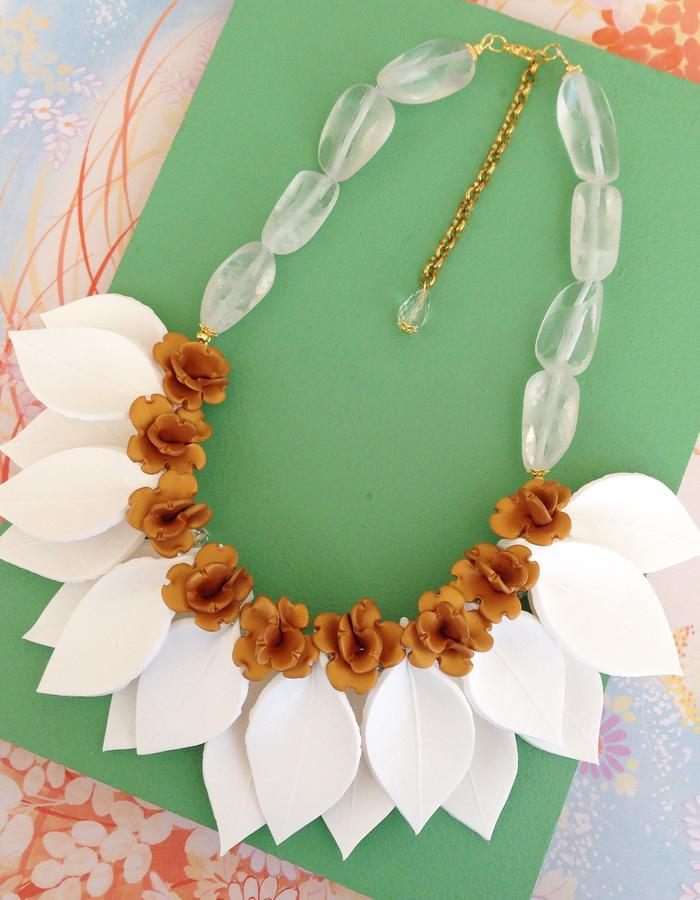 Single Layer Leaf Necklace