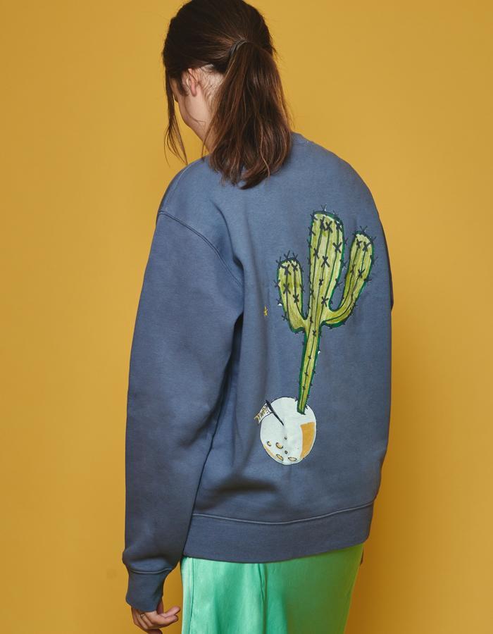 Spaced Cactus convoy grey sweatshirt.