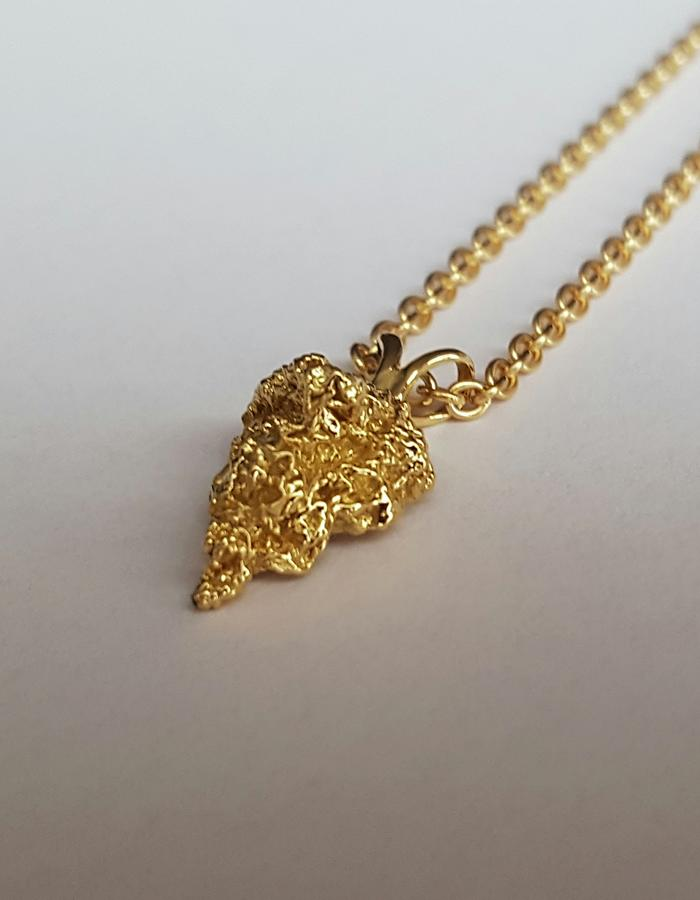 18K Yellow Gold Pointed Pendant