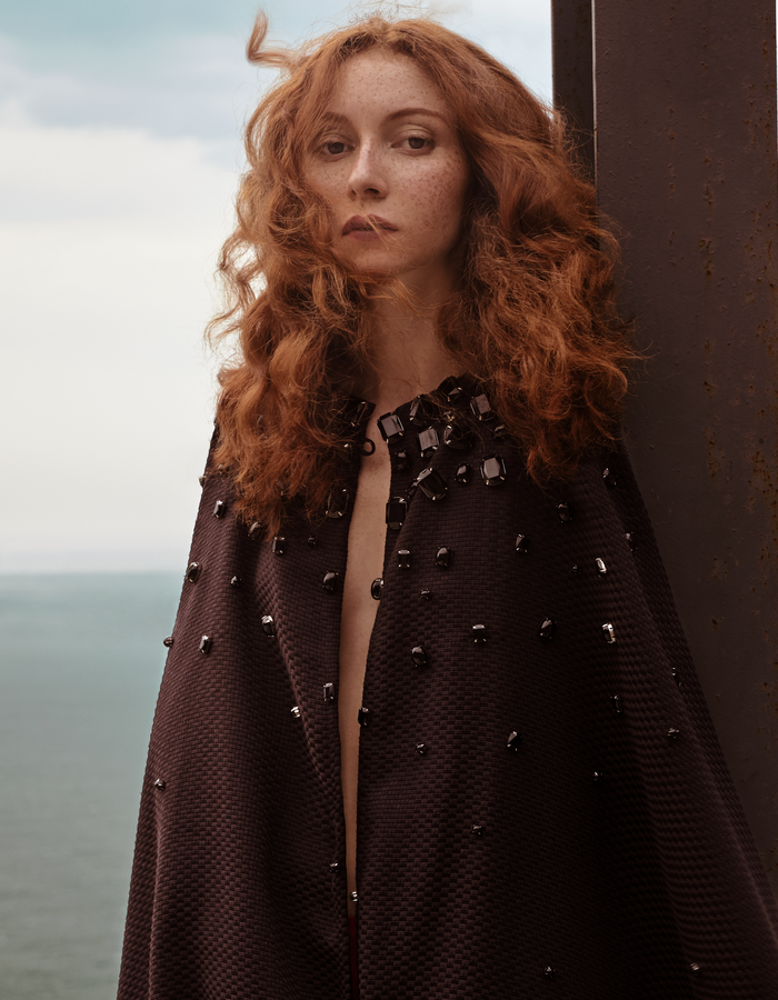 KARINE FOUVRY EMBROIDERED CAPE, PHOTO BY CLAUDIO CARPI