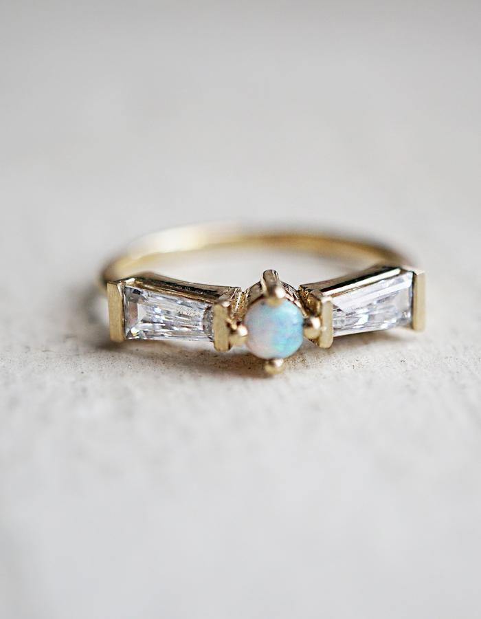Opal Tower ring designed by Tippy Taste