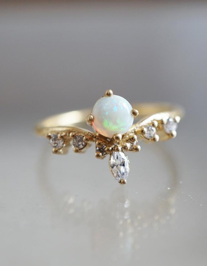 Opal Angel ring designed by Tippy Taste