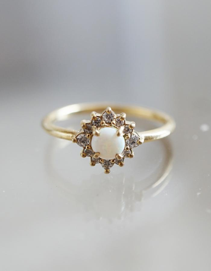 Opal Flower ring designed by Tippy Taste