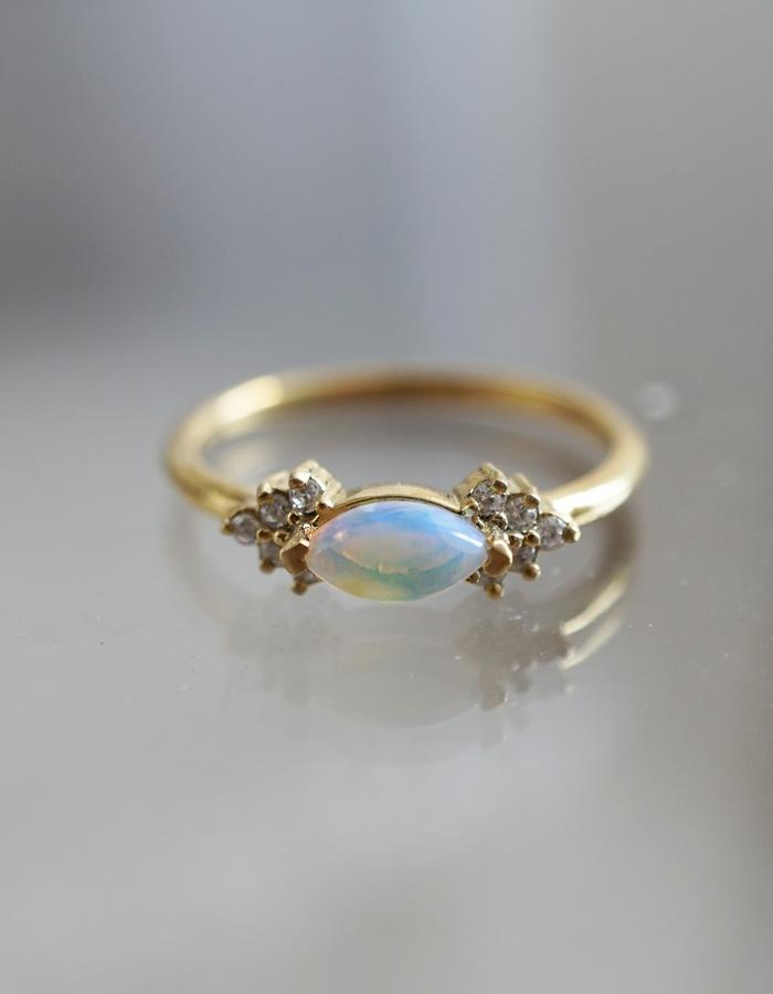 Opal Marquise ring designed by Tippy Taste