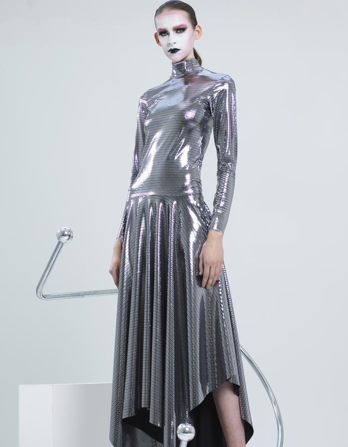 KSRT STUDIO DISCO SLICK DRESS