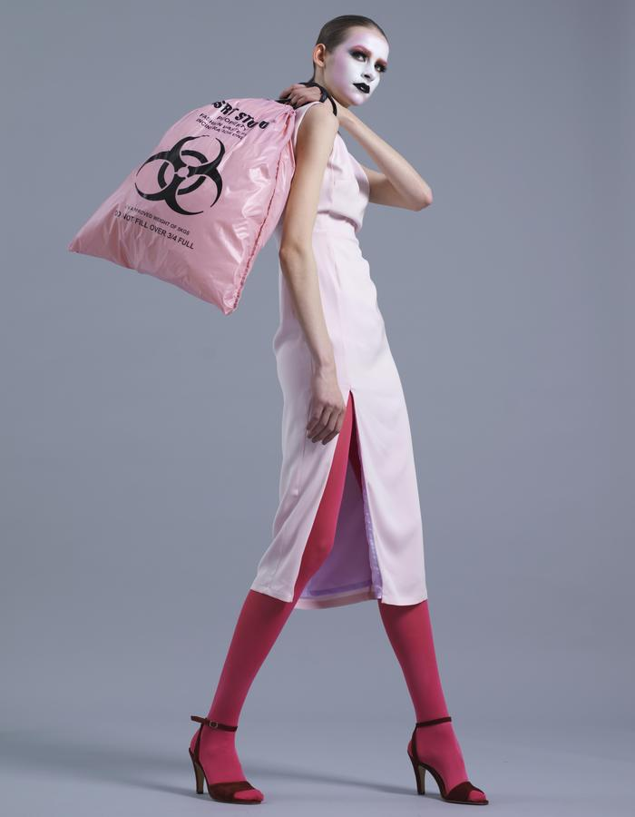 KSRT STUDIO SORAYAMA PINK SILK DRESS
