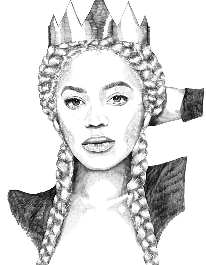 Beyonce Wild Monarchy Queen Illustration Charlie Dot
