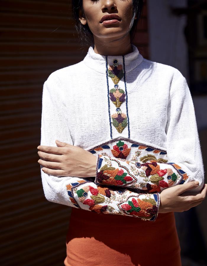 Imaima_SS18_hand embroidered_zena blouse