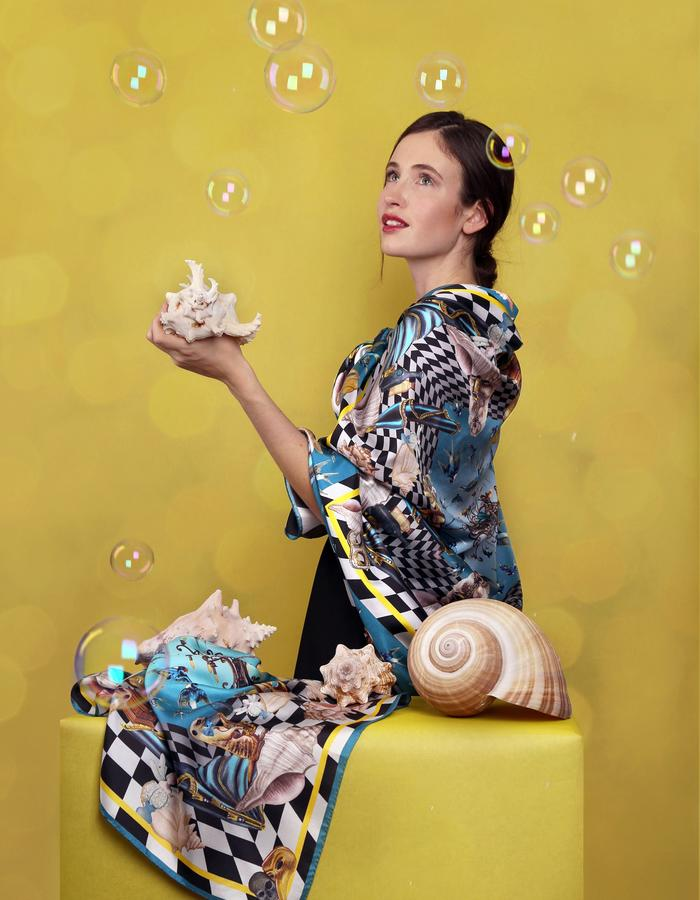Le Voyage Magnifique by Fiona K. design silkscarf swallow ballett