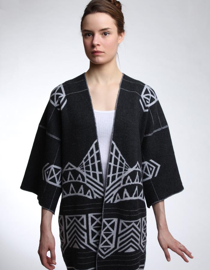 Upcycled Reflective Merino Kimono